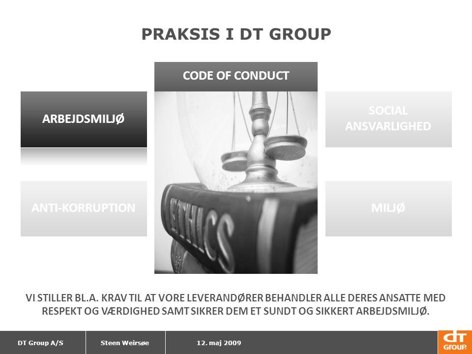 PRAKSIS I DT GROUP CODE OF CONDUCT SOCIAL ANSVARLIGHED ARBEJDSMILJØ