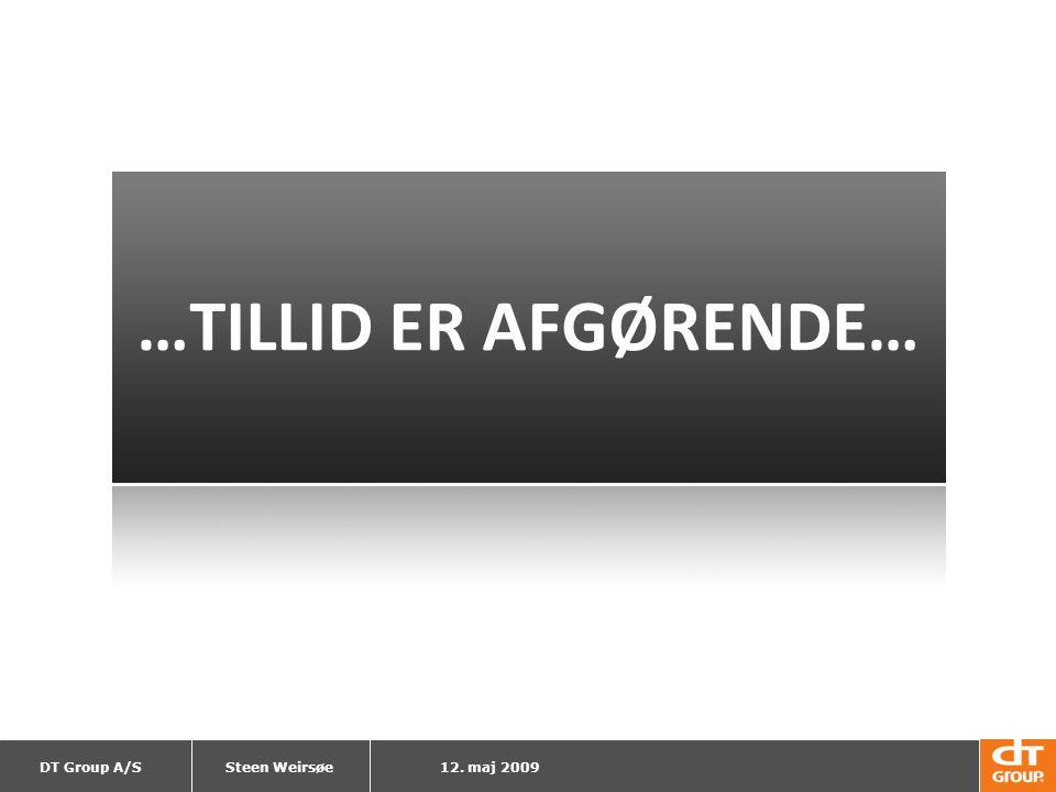 …TILLID ER AFGØRENDE… Steen Weirsøe 12. maj 2009