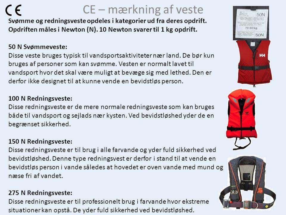 CE – mærkning af veste