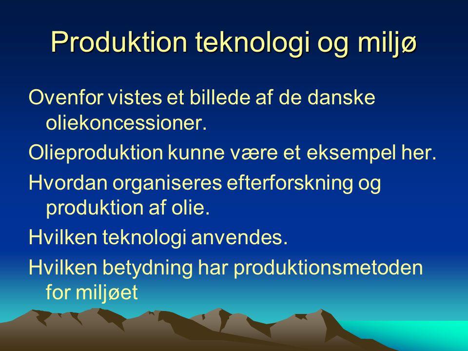 Produktion teknologi og miljø