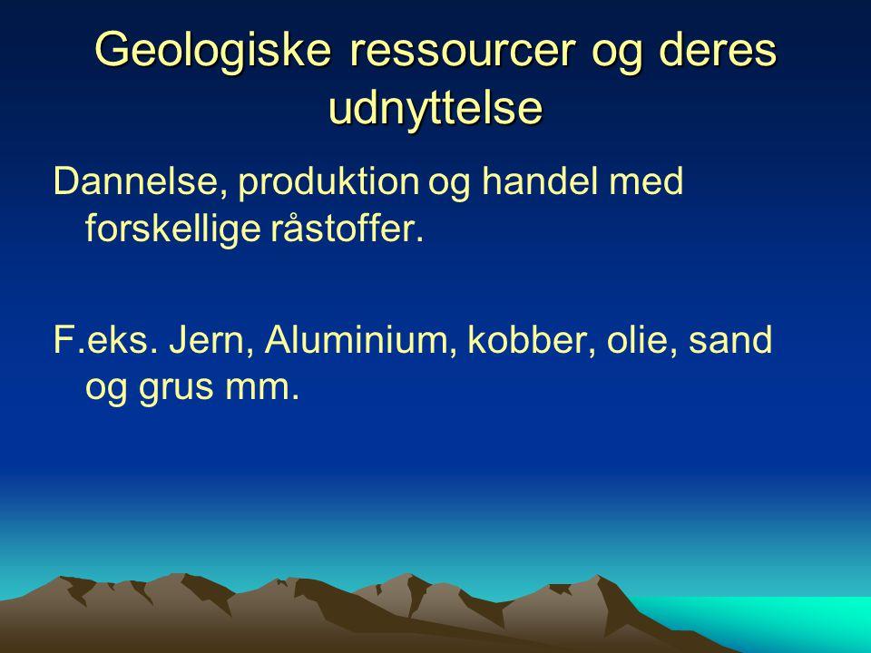 Geologiske ressourcer og deres udnyttelse