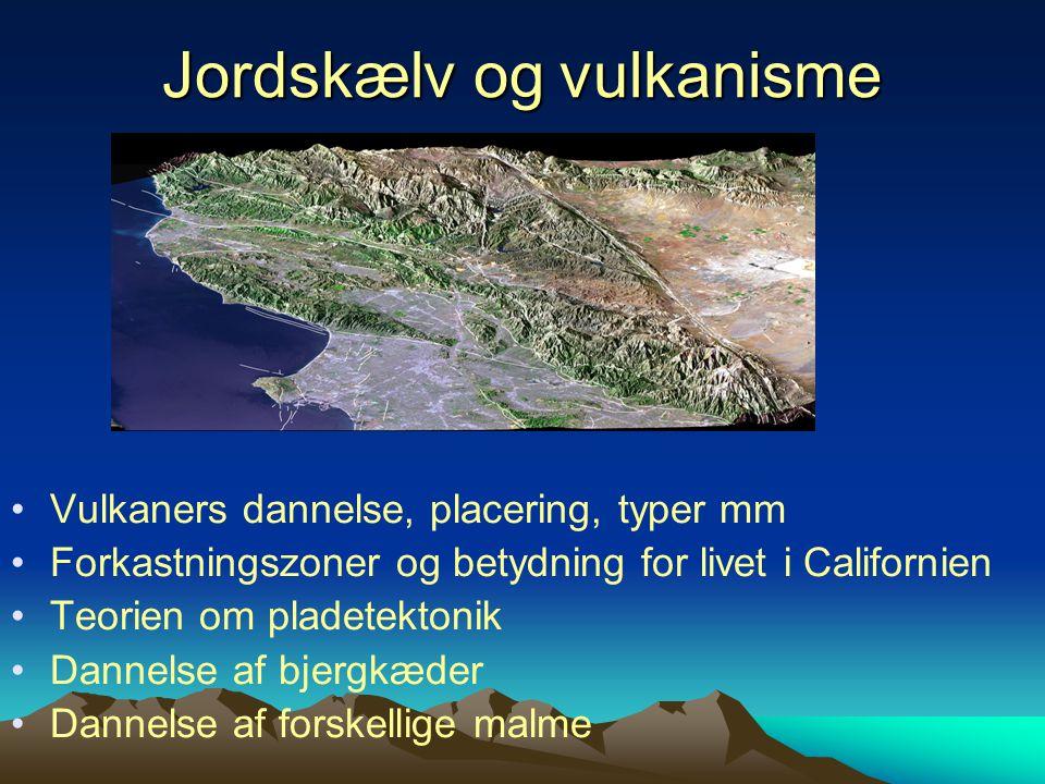 Jordskælv og vulkanisme