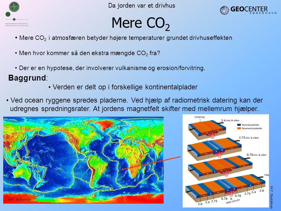 Mere CO2 Da jorden var et drivhus. Mere CO2 i atmosfæren betyder højere temperaturer grundet drivhuseffekten.