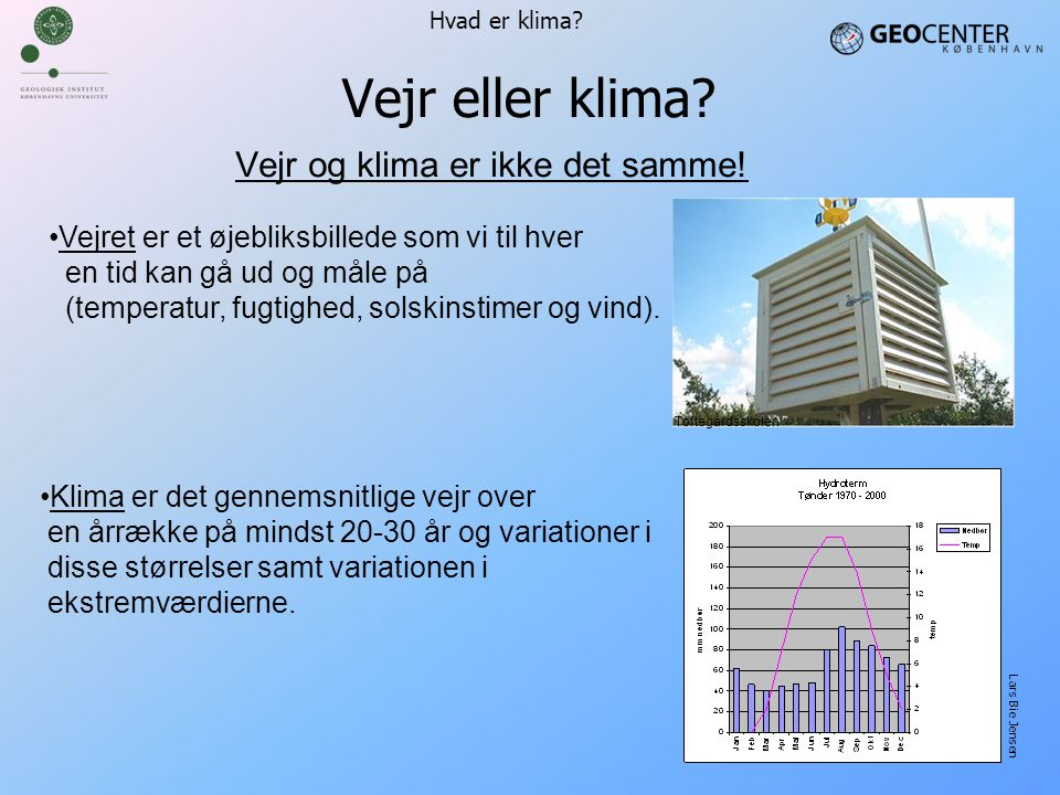 Vejr og klima er ikke det samme!