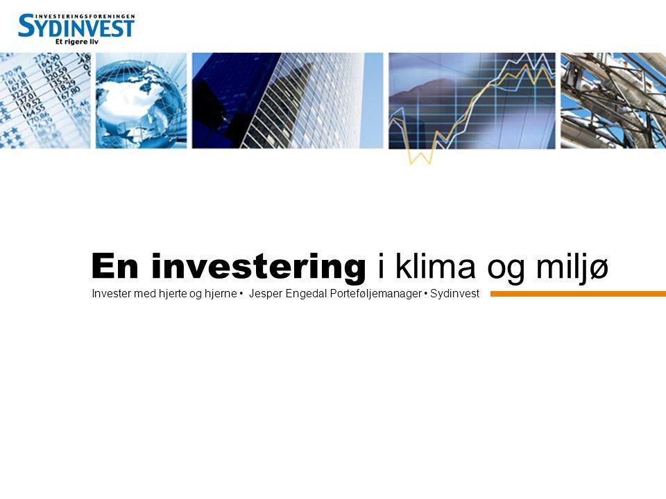 En investering i klima og miljø