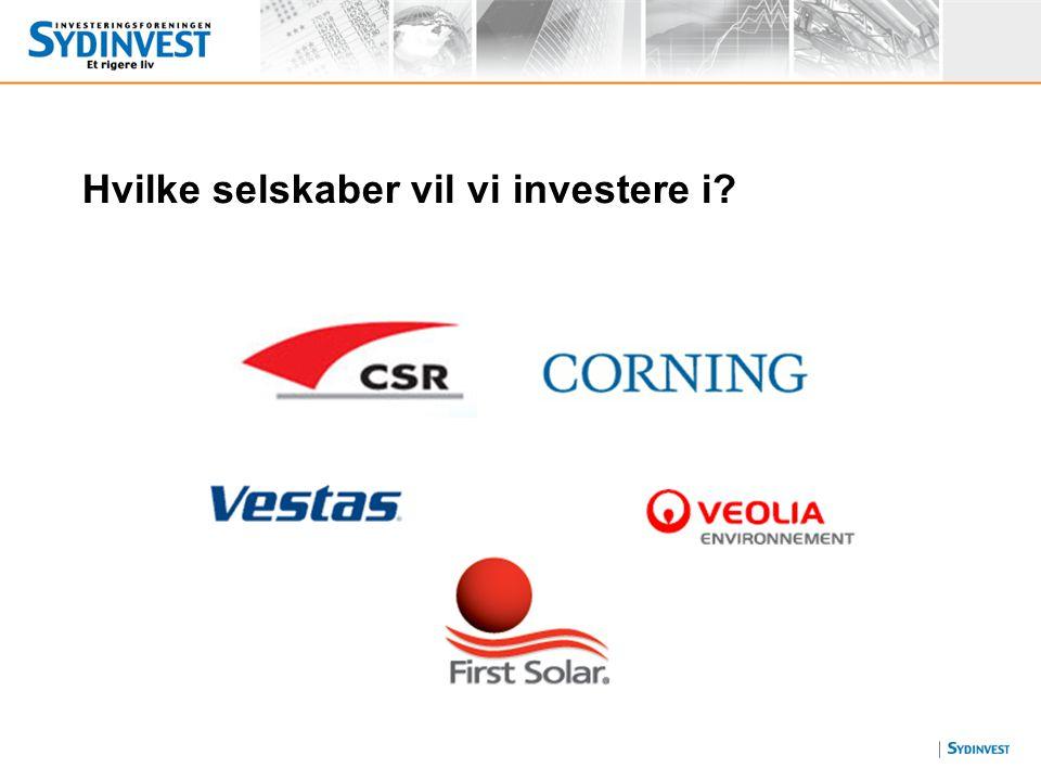 Hvilke selskaber vil vi investere i