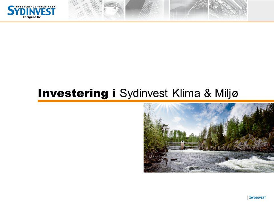 Investering i Sydinvest Klima & Miljø