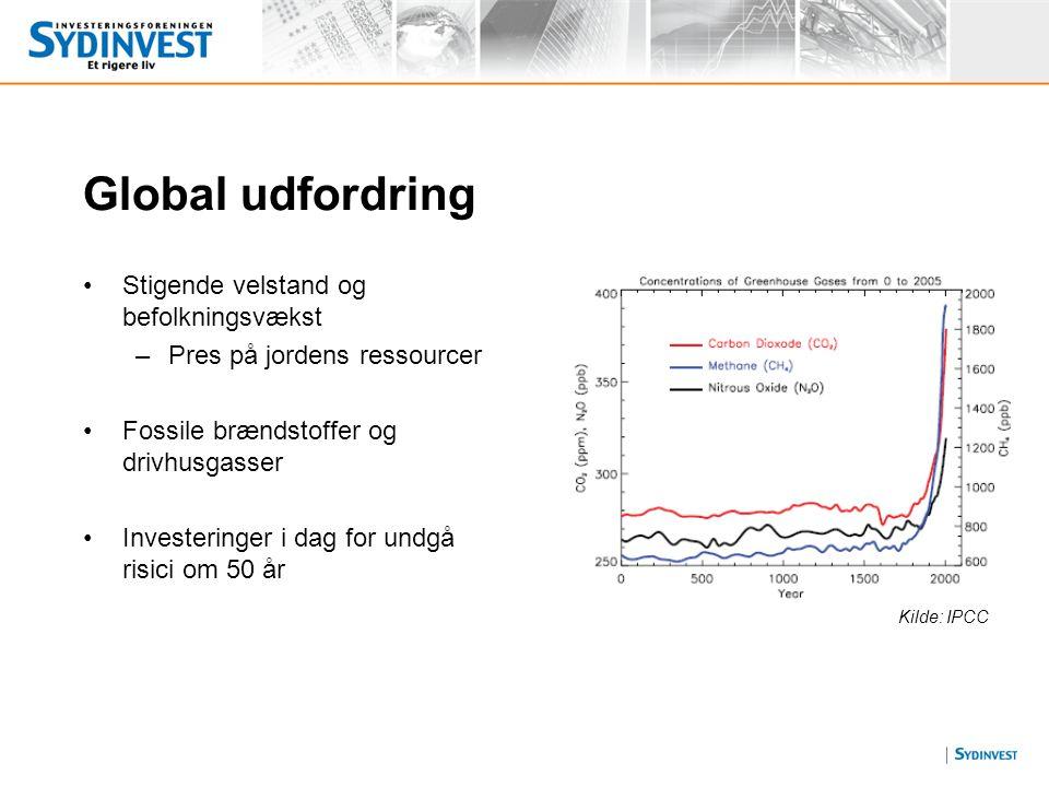 Global udfordring Stigende velstand og befolkningsvækst