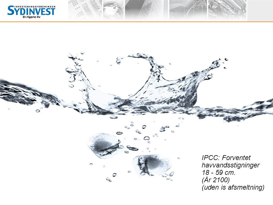 IPCC: Forventet havvandsstigninger 18 - 59 cm
