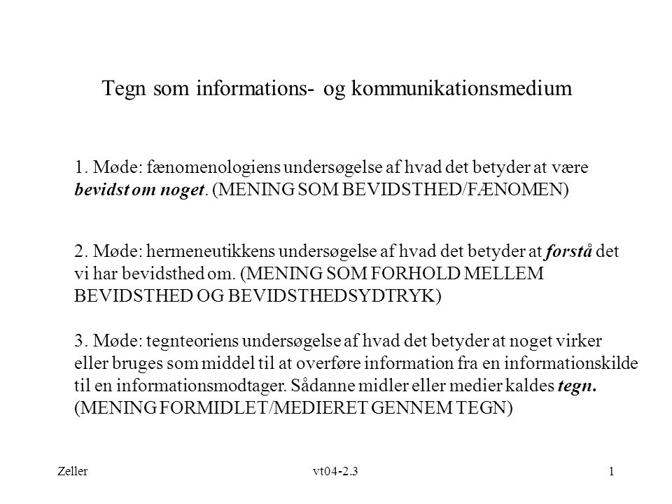 Tegn som informations- og kommunikationsmedium