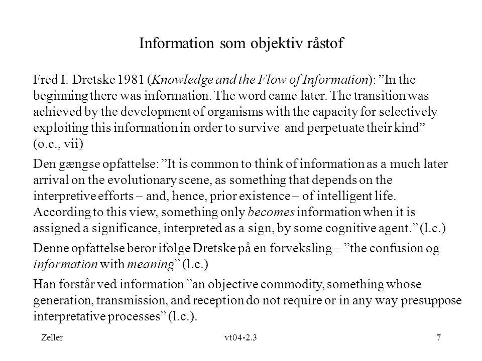 Information som objektiv råstof