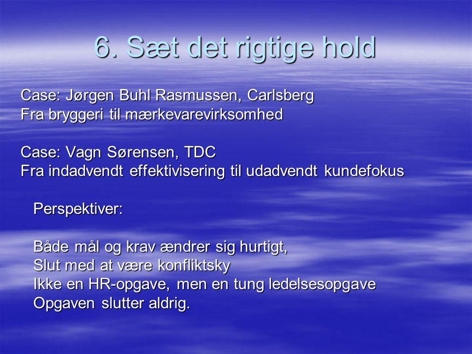 6. Sæt det rigtige hold Case: Jørgen Buhl Rasmussen, Carlsberg