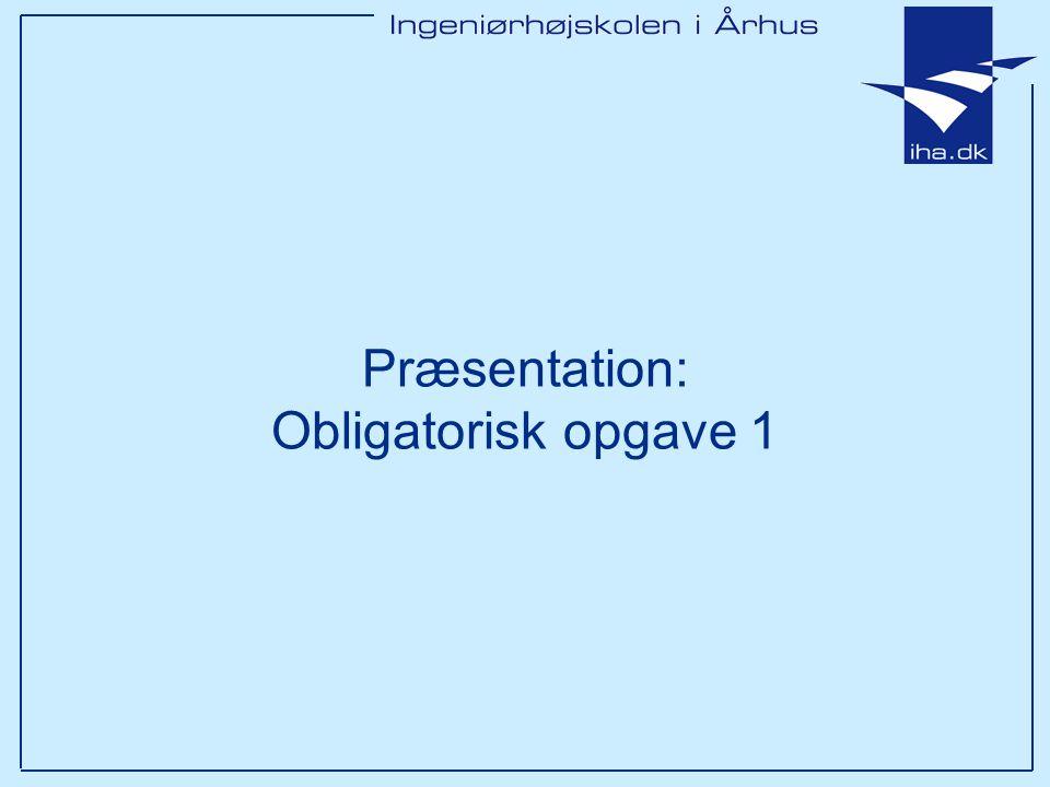 Præsentation: Obligatorisk opgave 1