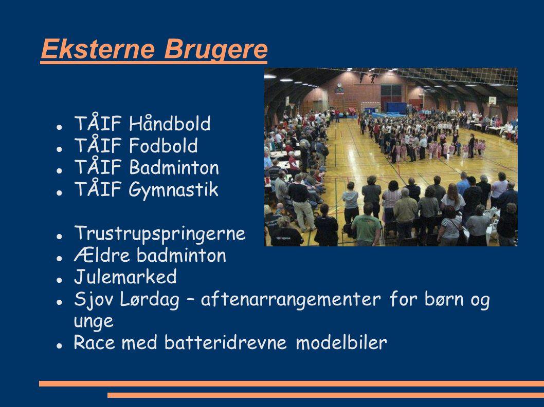 Eksterne Brugere TÅIF Håndbold TÅIF Fodbold TÅIF Badminton