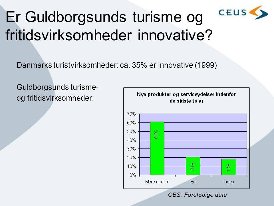 Er Guldborgsunds turisme og fritidsvirksomheder innovative