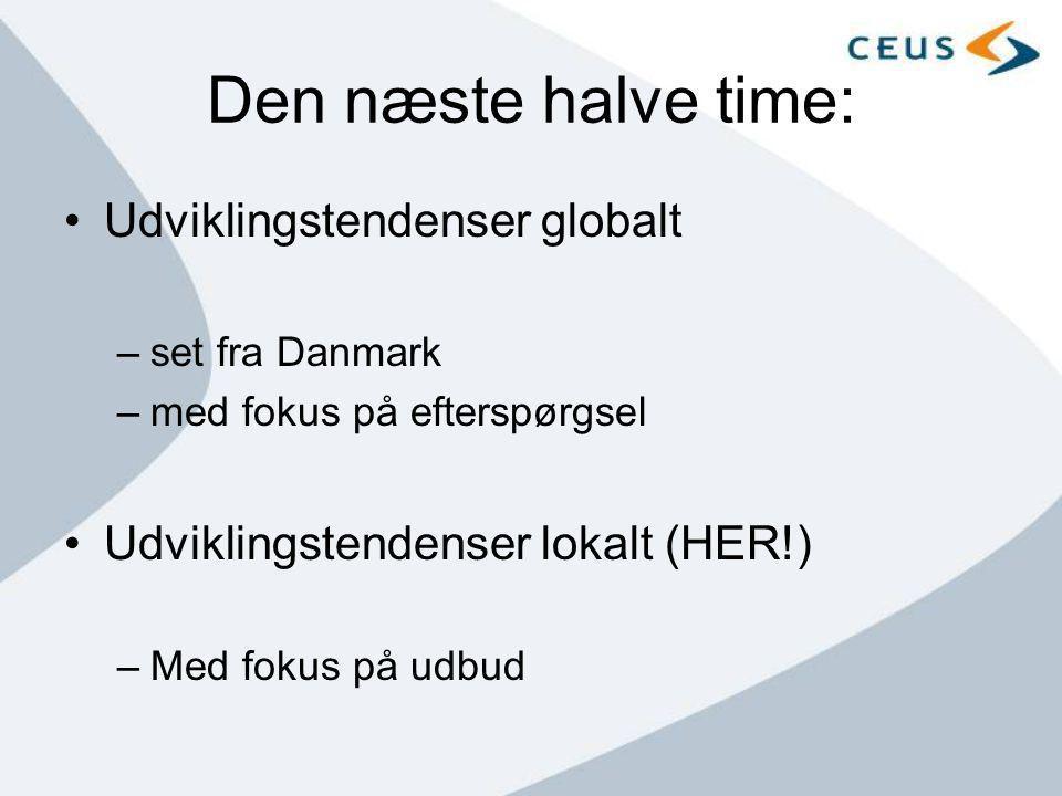 Den næste halve time: Udviklingstendenser globalt