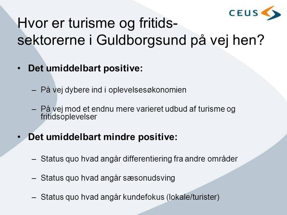 Hvor er turisme og fritids- sektorerne i Guldborgsund på vej hen