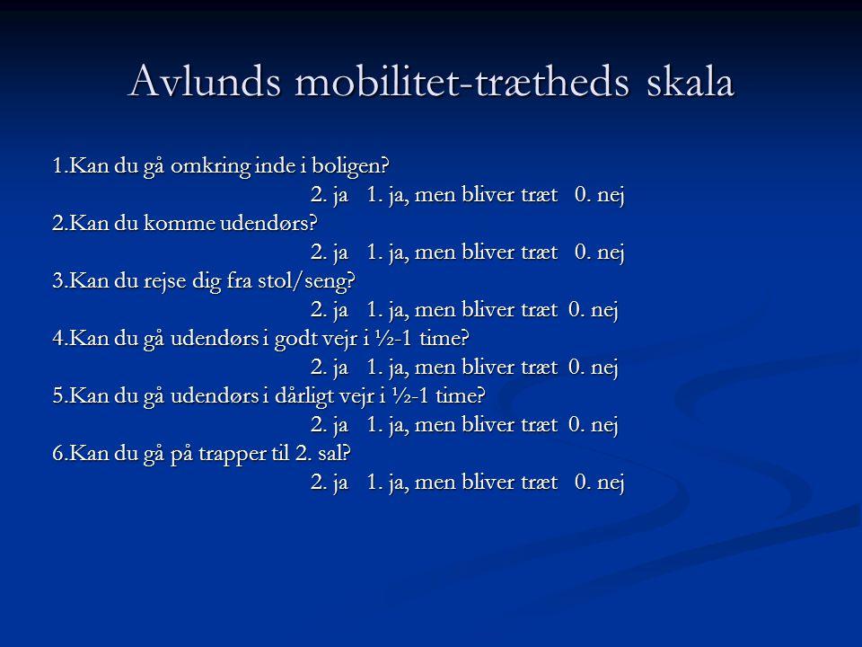 Avlunds mobilitet-trætheds skala