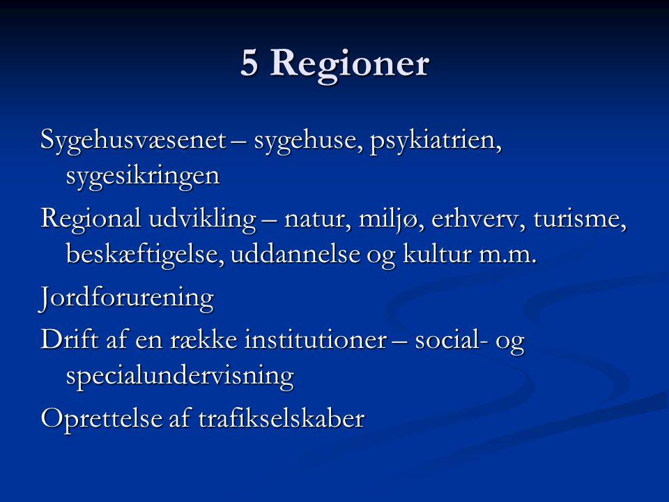 5 Regioner Sygehusvæsenet – sygehuse, psykiatrien, sygesikringen