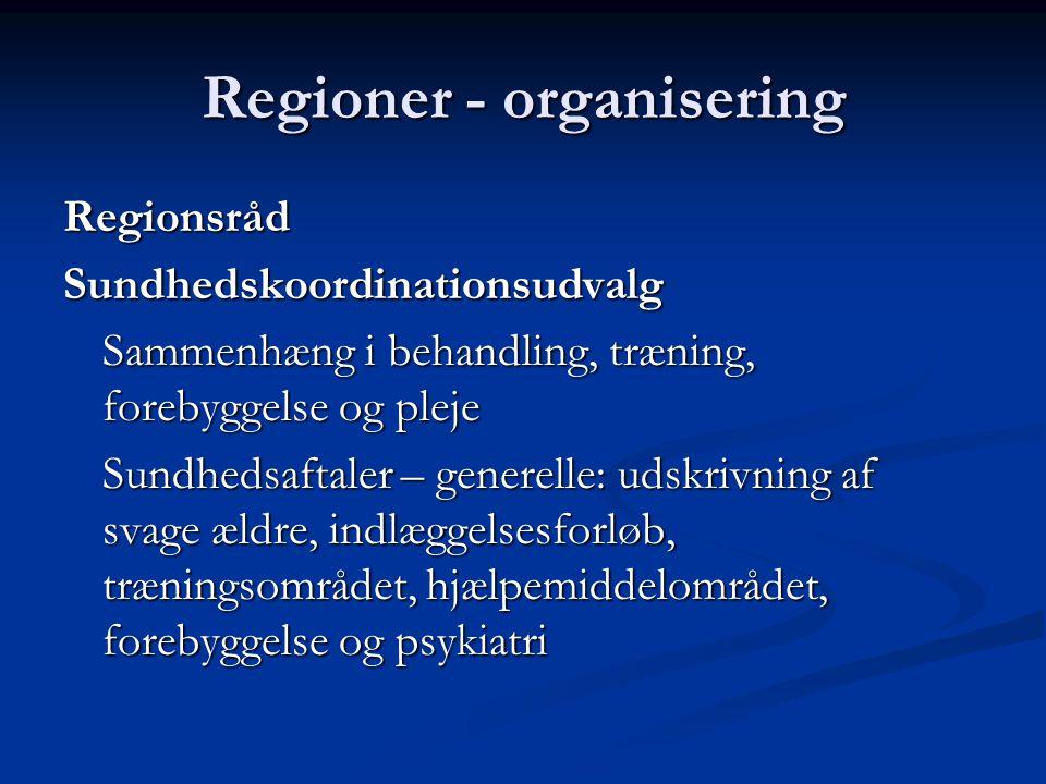 Regioner - organisering