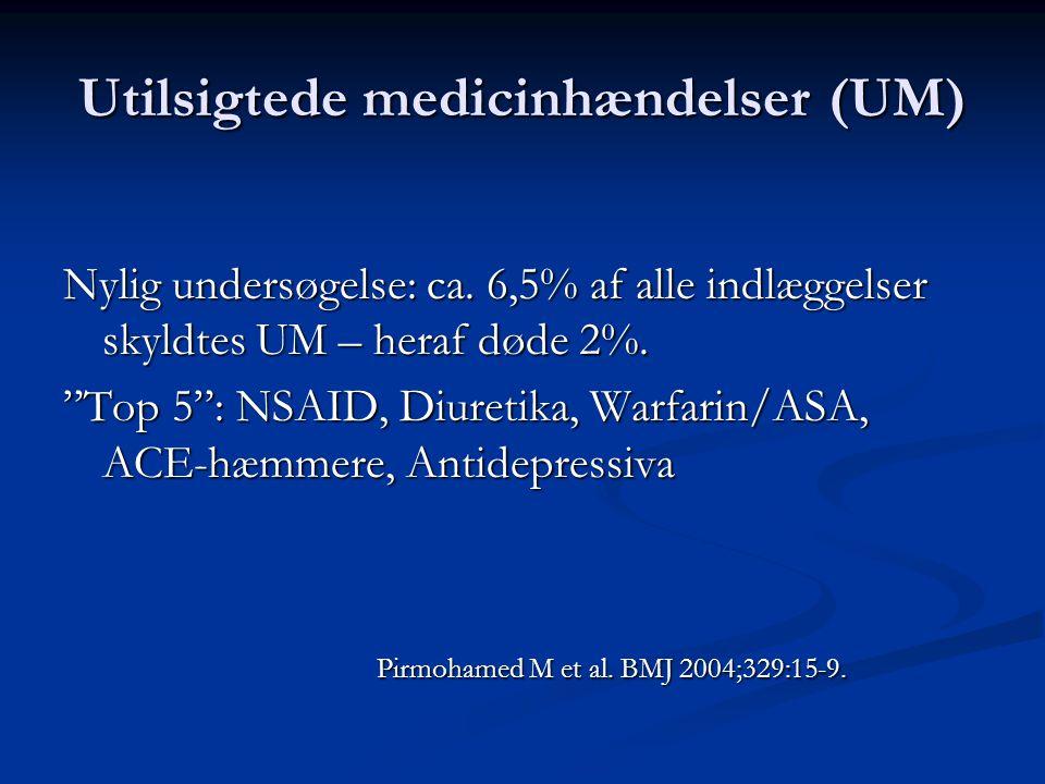 Utilsigtede medicinhændelser (UM)