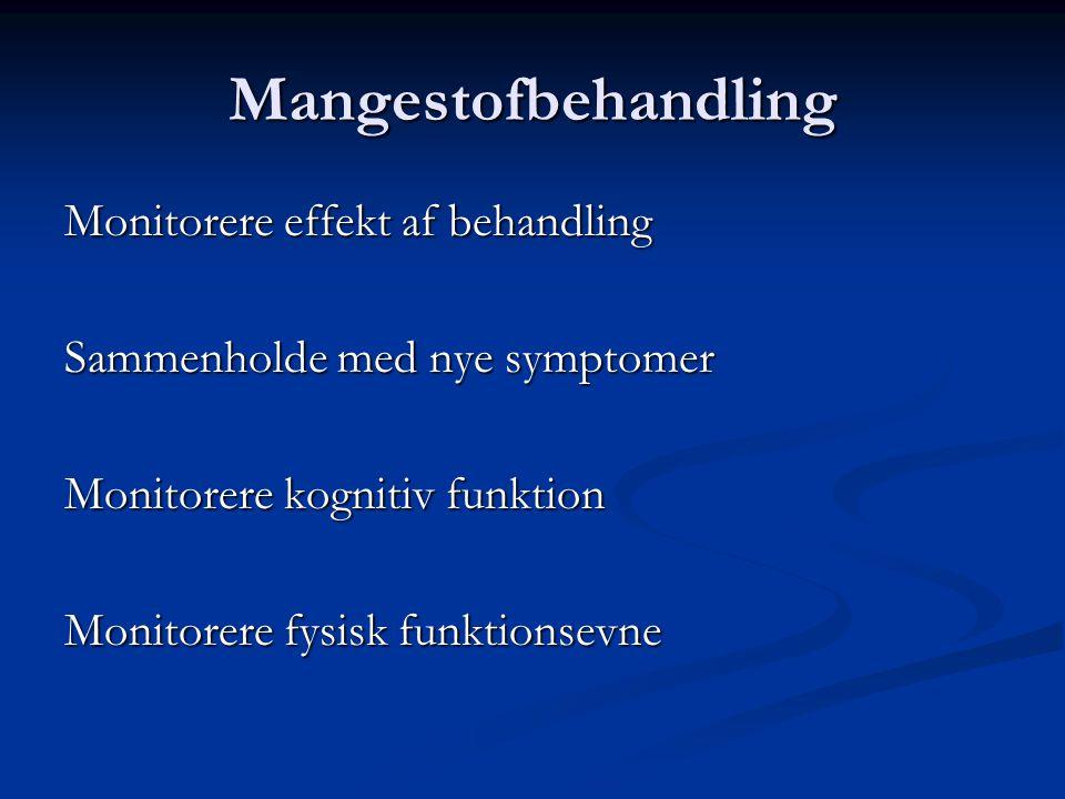 Mangestofbehandling Monitorere effekt af behandling