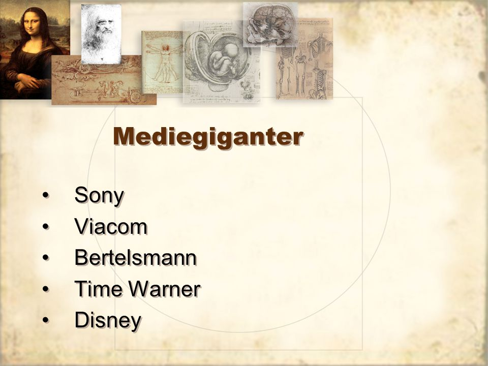 Mediegiganter Sony Viacom Bertelsmann Time Warner Disney