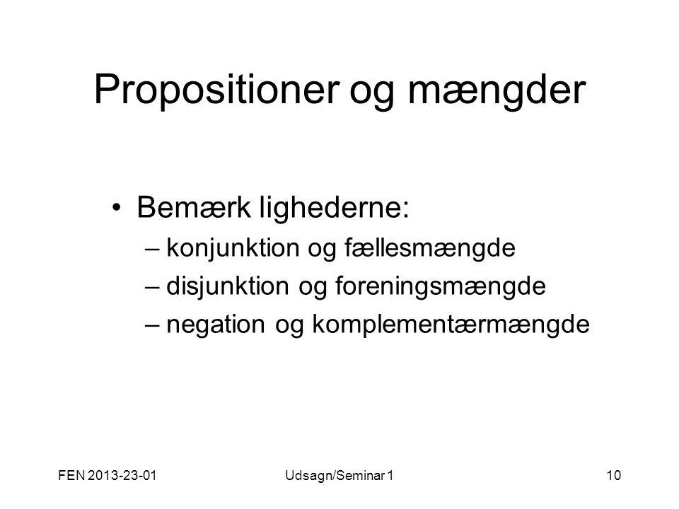 Propositioner og mængder