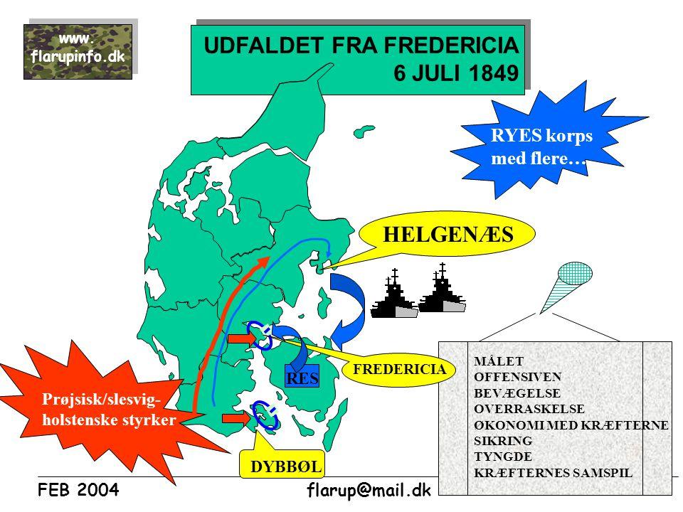 UDFALDET FRA FREDERICIA 6 JULI 1849