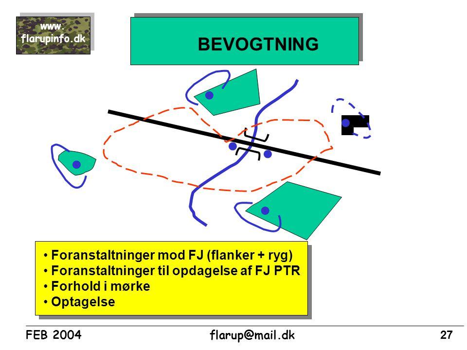 BEVOGTNING Foranstaltninger mod FJ (flanker + ryg)