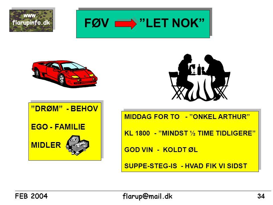 FØV LET NOK DRØM - BEHOV EGO - FAMILIE MIDLER