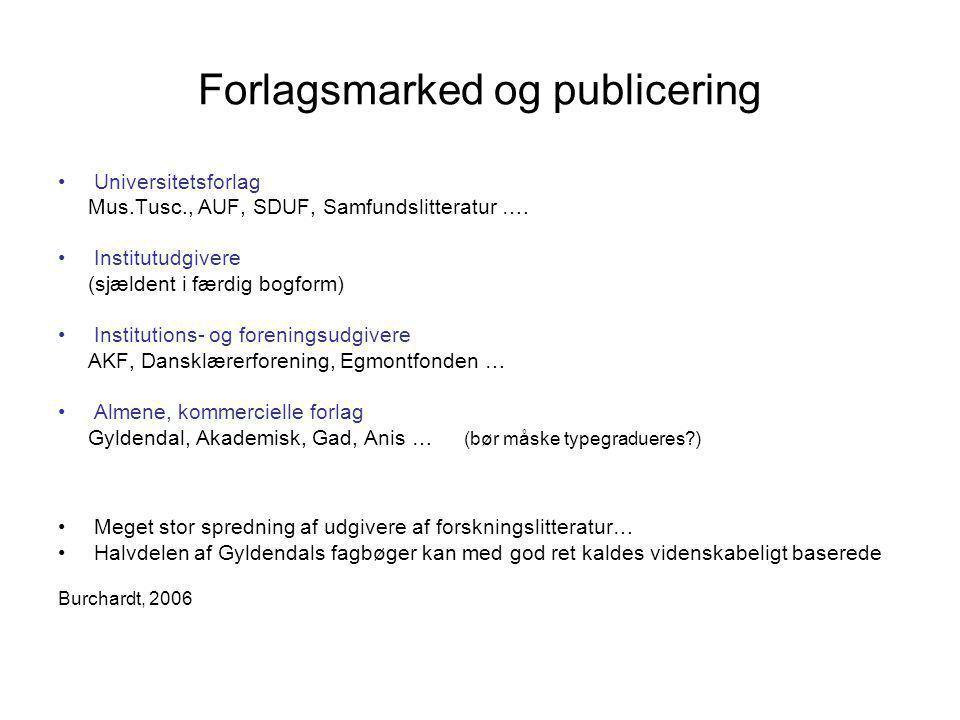 Forlagsmarked og publicering