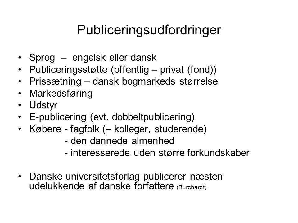 Publiceringsudfordringer