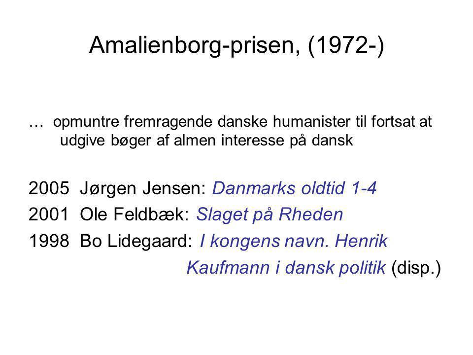Amalienborg-prisen, (1972-)