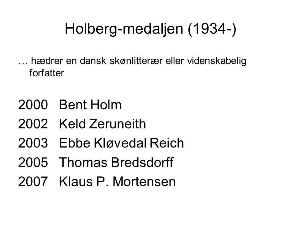Holberg-medaljen (1934-) 2000 Bent Holm 2002 Keld Zeruneith