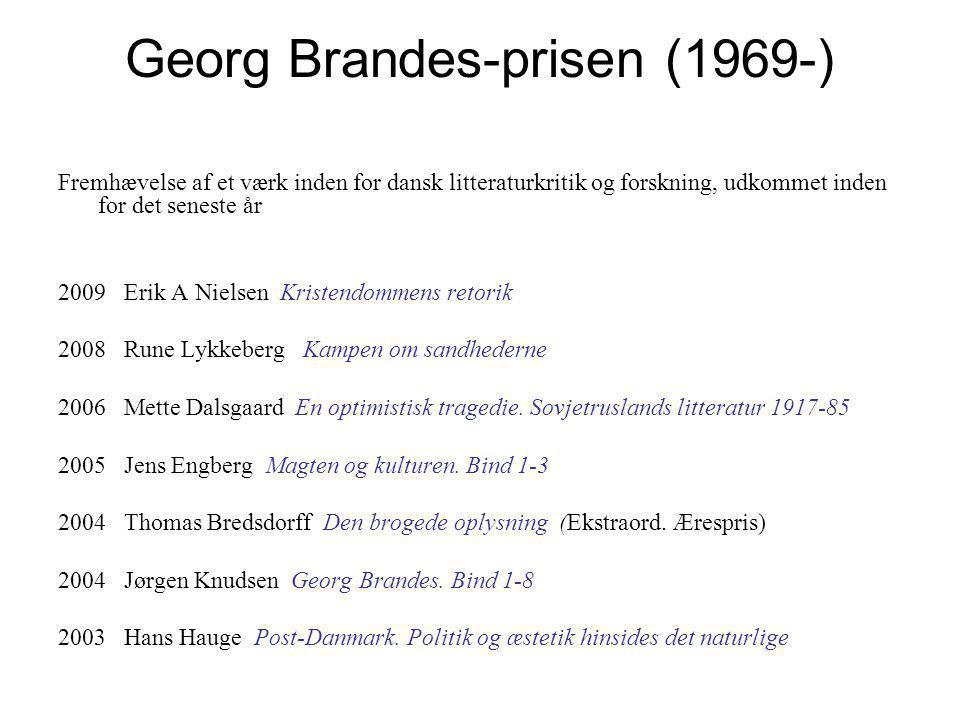 Georg Brandes-prisen (1969-)
