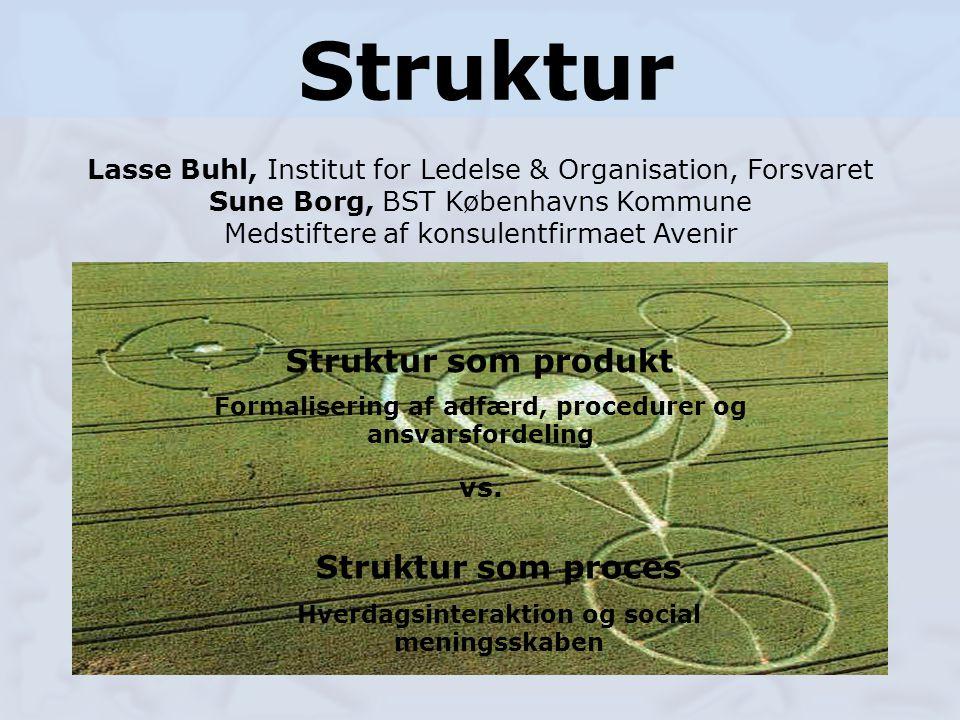Struktur Struktur som produkt Struktur som proces