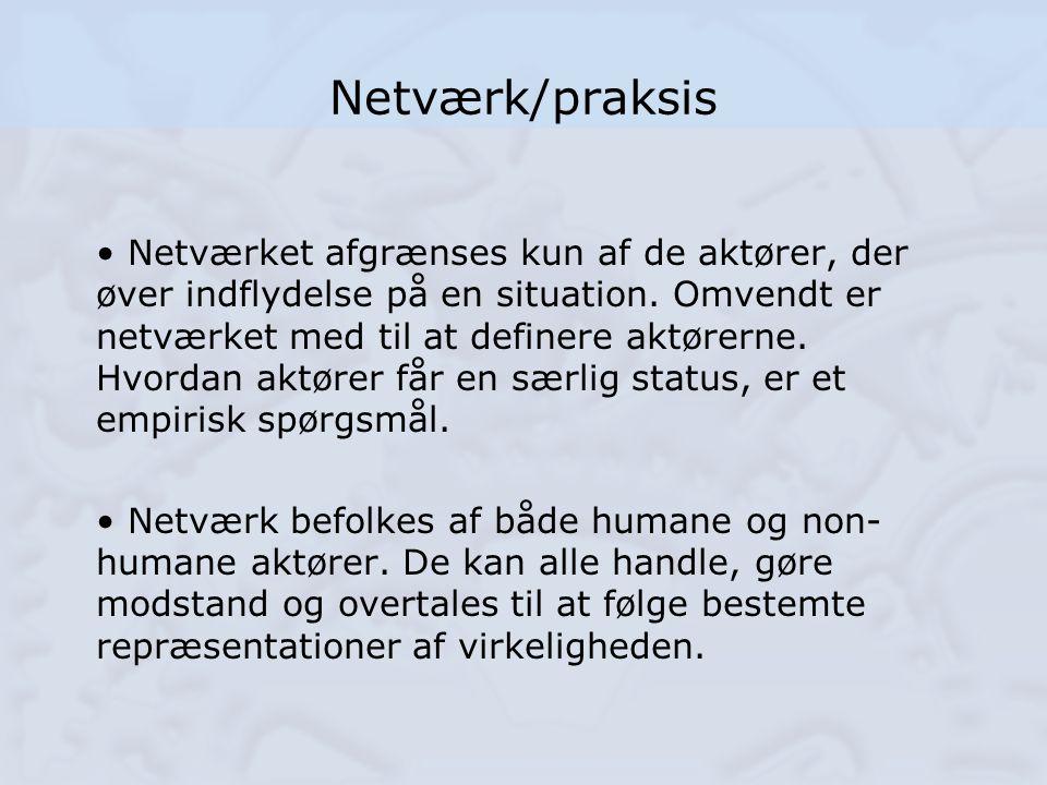 Netværk/praksis