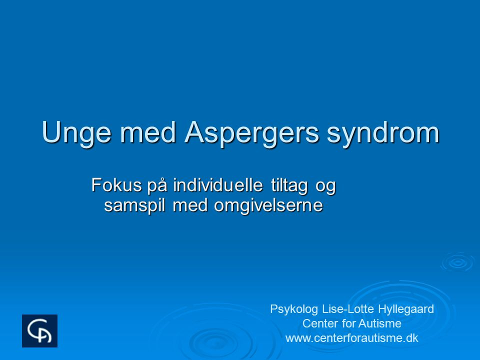 Unge med Aspergers syndrom