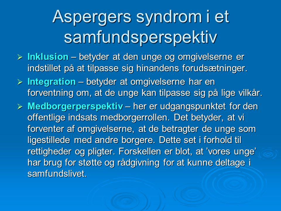 Aspergers syndrom i et samfundsperspektiv