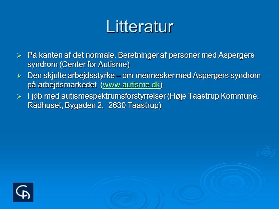 Litteratur På kanten af det normale. Beretninger af personer med Aspergers syndrom (Center for Autisme)