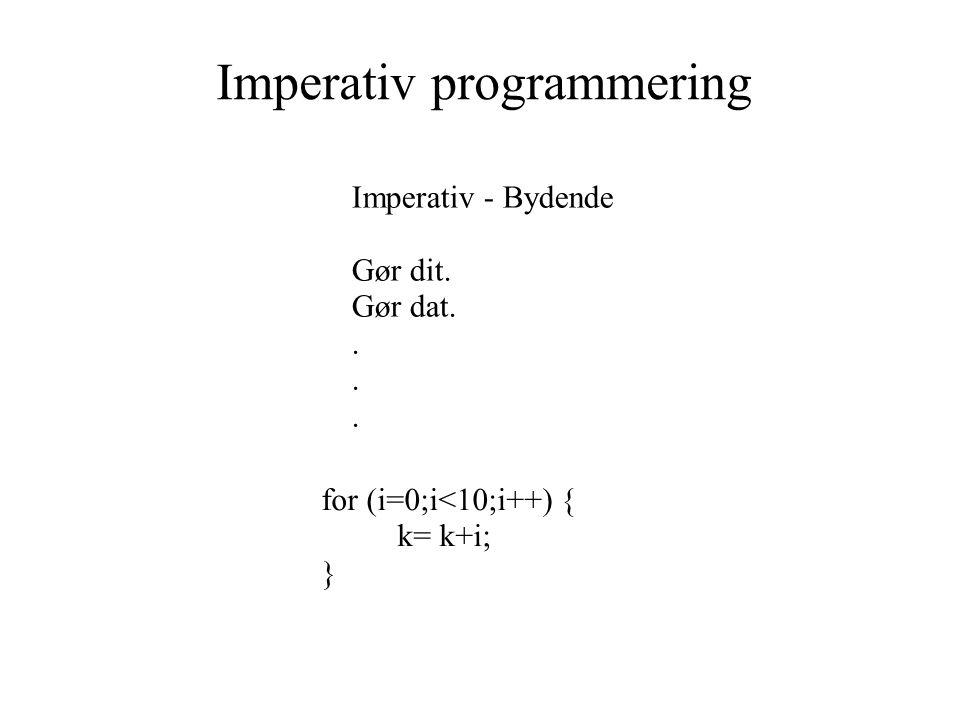 Imperativ programmering