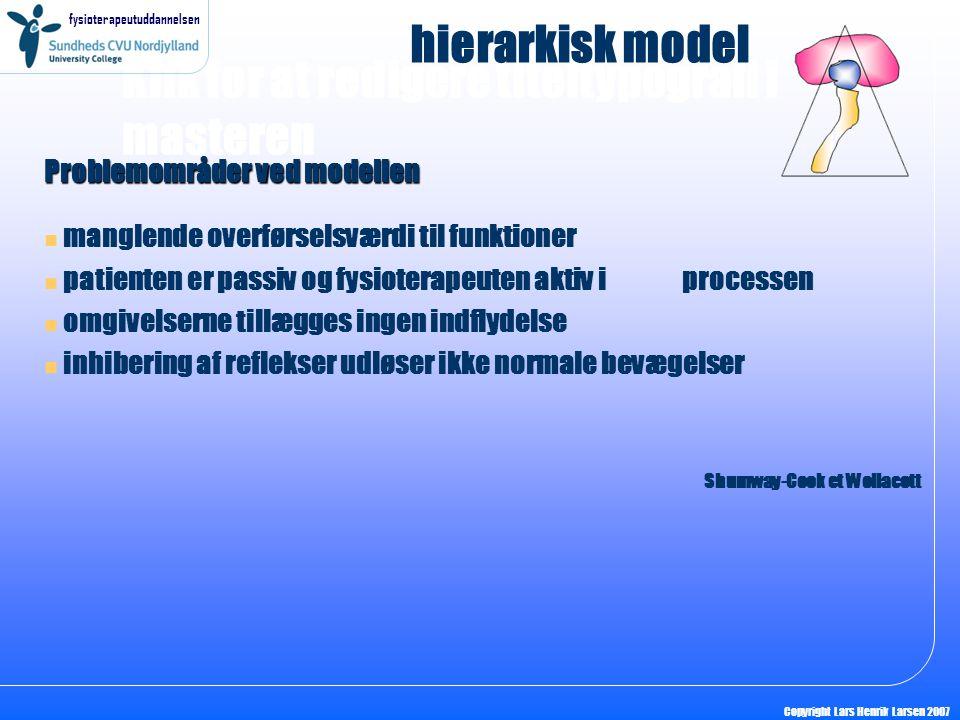 hierarkisk model Problemområder ved modellen