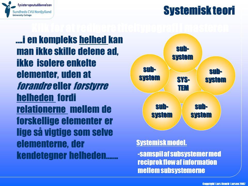 Systemisk teori