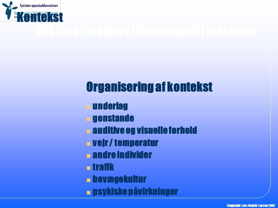 Organisering af kontekst