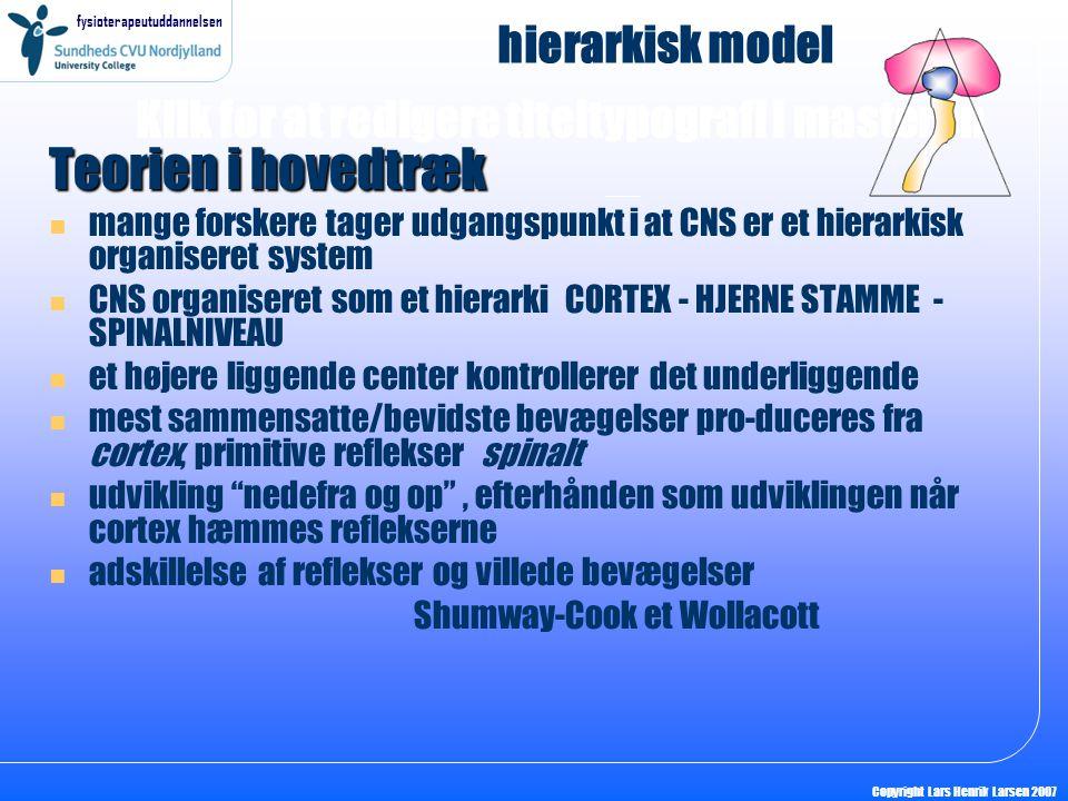 Teorien i hovedtræk hierarkisk model