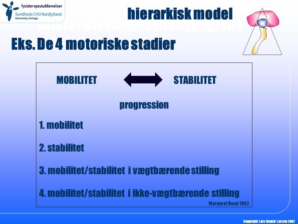 Eks. De 4 motoriske stadier