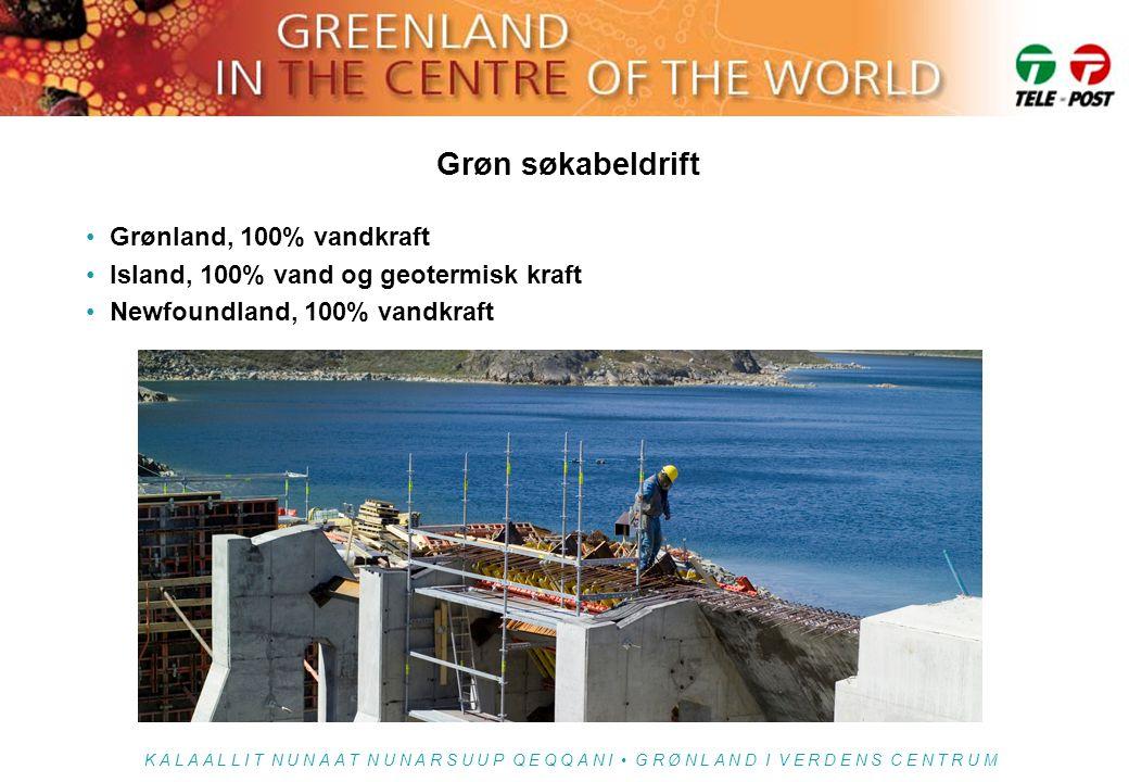 Grøn søkabeldrift Grønland, 100% vandkraft