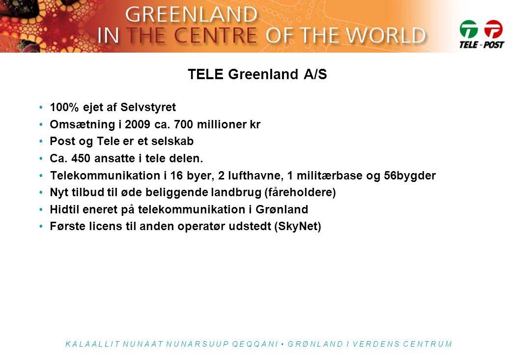 TELE Greenland A/S 100% ejet af Selvstyret