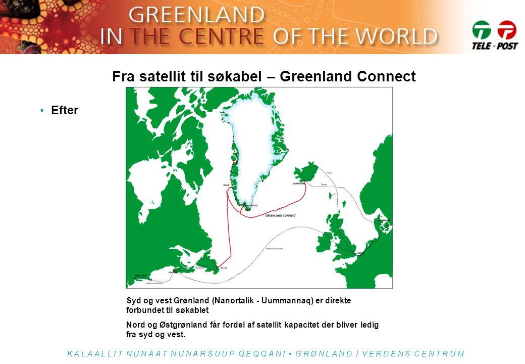Fra satellit til søkabel – Greenland Connect